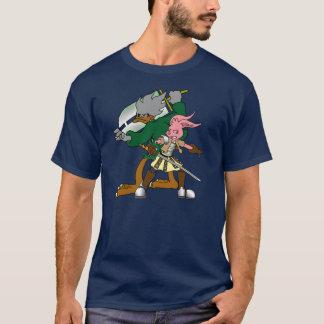 Canard de Muscovy de bandes dessinées et lapin T-shirt