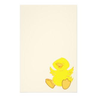 Canard heureux stationnaire papier à lettre customisable