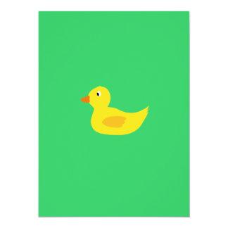 Canard jaune mignon carton d'invitation  13,97 cm x 19,05 cm