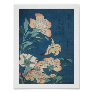 Canary and Peony Poster