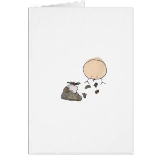 Canary and the Christmas Pudding Card