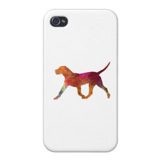 Canary bulldog in watercolor cover for iPhone 4
