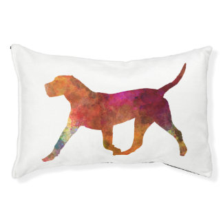 Canary bulldog in watercolor pet bed