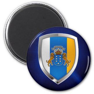 Canary Islands Mettalic Emblem Magnet