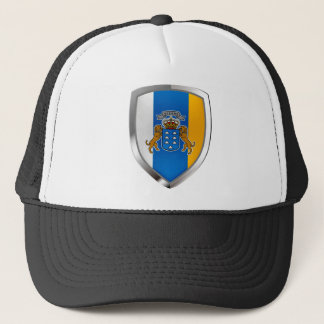 Canary Islands Mettalic Emblem Trucker Hat