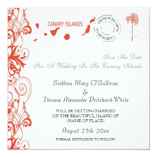 Canary Islands Save The Date Card