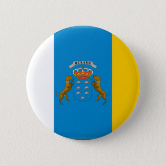 Canary Islands (Spain) Flag 2 Inch Round Button