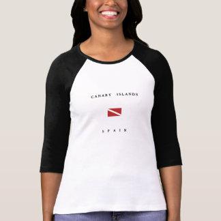 Canary Islands Spain Scuba Dive Flag T-Shirt