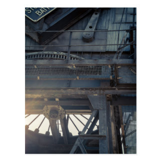Canary Wharf crane Postcard