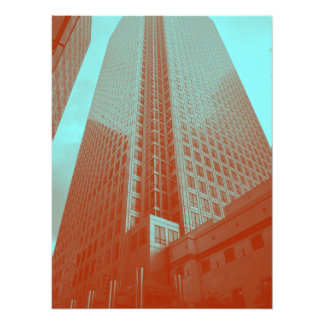 Canary Wharf (in red and blue) Photograph