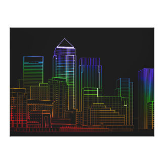 Canary Wharf - London Canvas Print