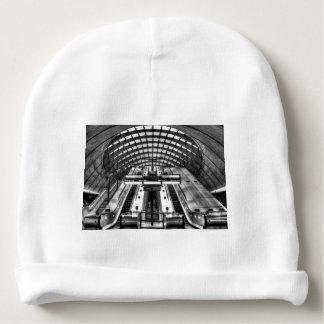 canary wharf tube station baby beanie
