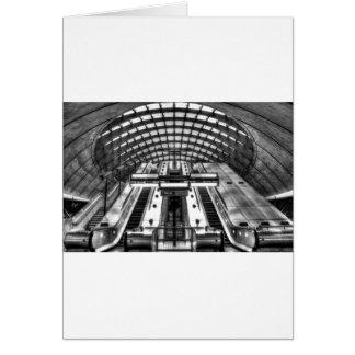 canary wharf tube station card