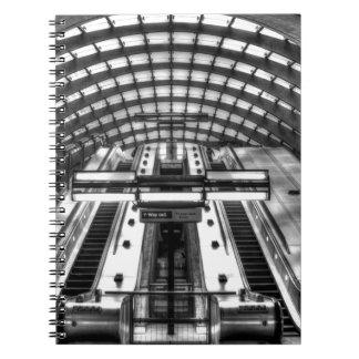 canary wharf tube station notebook