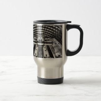 canary wharf tube station travel mug