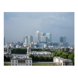 Canary Wharf view from Greenwich Postcard
