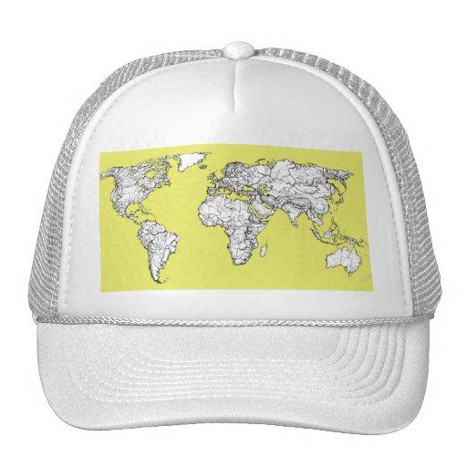 canary yellow atlas diagram mesh hats