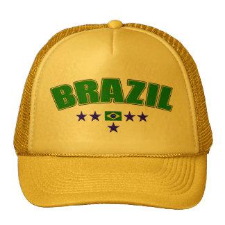 Canary Yellow Brazil 5 Star Logo Cap Trucker Hat