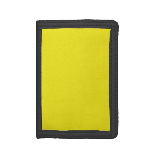 Canary Yellow Bright Fashion Colour Trend 2014 Trifold Wallet