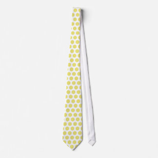 Canary Yellow polka dot  pattern Tie