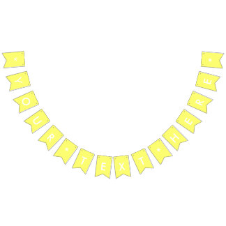 Canary Yellow Solid Color Customize It Bunting Flags