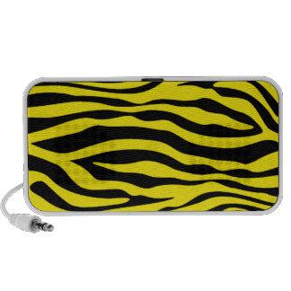 Canary Yellow Zebra Animal Print Travelling Speakers