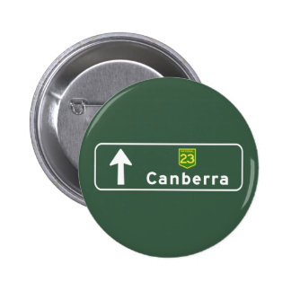 Canberra Australia Road Sign Pin