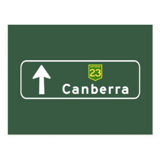 Canberra, Australia Road Sign Postcard