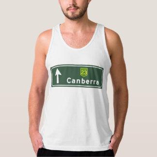 Canberra, Australia Road Sign Tanktop