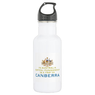 Canberra...Capital Punishment. 18oz Water Bottle