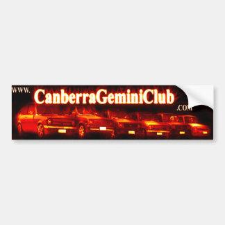 Canberra Gemini Club Bumper Sticker