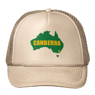 Canberra Green and Gold Map Cap Trucker Hat