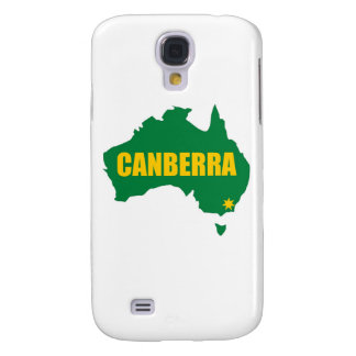 Canberra Green and Gold Map Samsung Galaxy S4 Cases