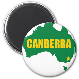 Canberra Green and Gold Map Refrigerator Magnet