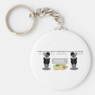 canberra basic round button keychain
