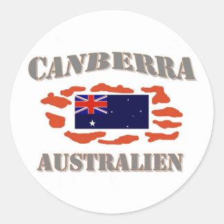 Canberra Round Sticker