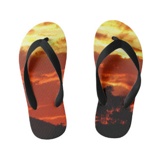 Canberra Summer Sunset Kid's Flip Flops