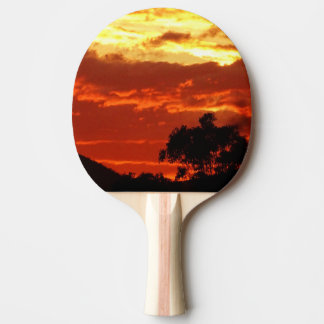 Canberra Summer Sunset Ping-Pong Paddle