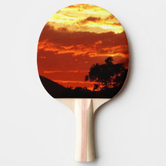 Canberra Summer Sunset Ping Pong Paddle