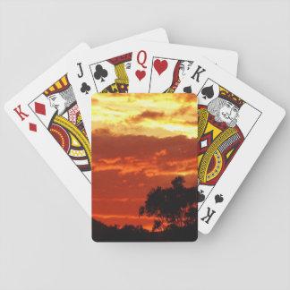 Canberra Summer Sunset Poker Cards