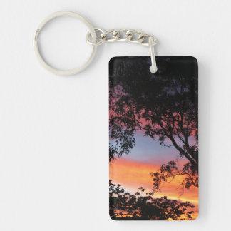 Canberra Sunset Single-Sided Rectangular Acrylic Keychain