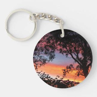 Canberra Sunset Double-Sided Round Acrylic Keychain