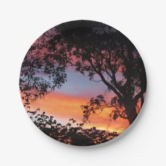 Canberra Sunset 7 Inch Paper Plate