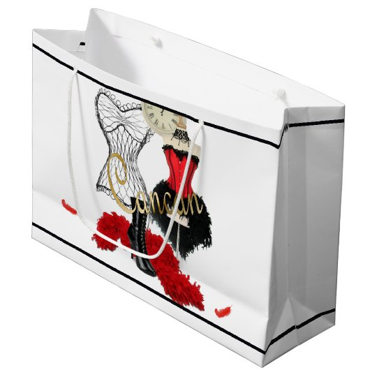 Cancan Costume 1 Large Gift Bag