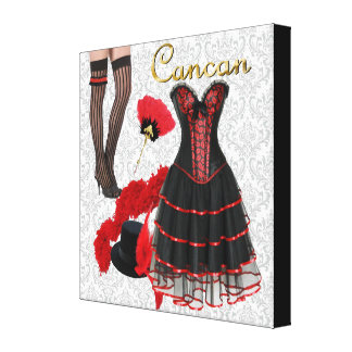 Cancan Costume 2 Canvas Print