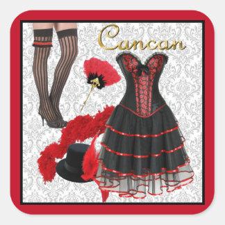 Cancan Costume 2 Square Sticker