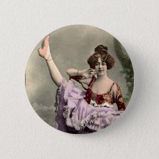 Cancan Dancer 2 Inch Round Button
