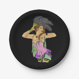 CANCAN DANCER PARTY PLATE DESIGN 7 INCH PAPER PLATE