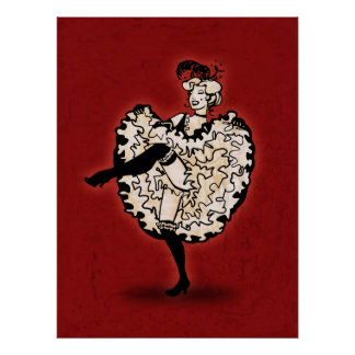 Cancan Dancer Poster