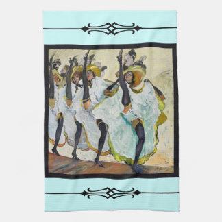 Cancan Dancers Hand Towel